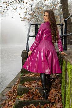 Vinyl Raincoat, Pvc Raincoat, 1950s Fashion, Vintage Fashion, Vintage Style, Rain Mac, Double Breasted, Single Breasted, Vinyls