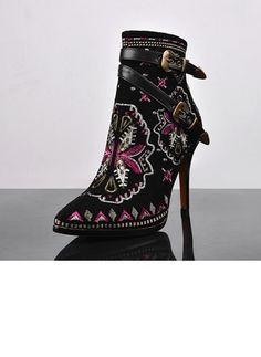 Zapatos Botas Tacones Botas al tobillo Tacón stilettos Piel  ...