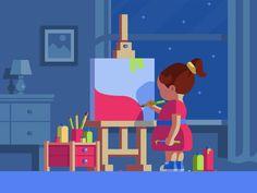 Little Artist :) by Nutsa Avaliani - Dribbble