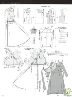 Japanese book and handicrafts - MRS Style book Dress Sewing Patterns, Vintage Sewing Patterns, Clothing Patterns, Sewing Lessons, Sewing Hacks, Fashion Sewing, Diy Fashion, Sewing Clothes, Diy Clothes