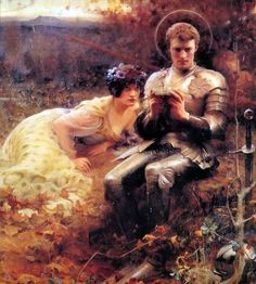 The Temptation of Sir Percival by Arthur Hacker, ca. 1894.