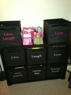 Thirty-One's Your Way Cube and on the top middle shelf is two Keep It Caddys.  There is now lids available for the Your Way Cube!