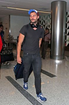 Jamie yesterday arriving at LAX