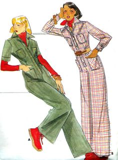1970s Womens Jumpsuit Pattern Butterick 4396 Front by paneenjerez, $12.00