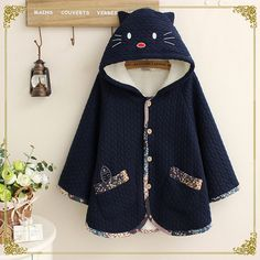 Mori Girl Sweet Sailor Collar Knitwear Jacket Coat Tops Hit color kawaii Cosy