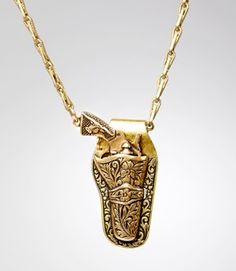 Gun and holster necklace, so cute