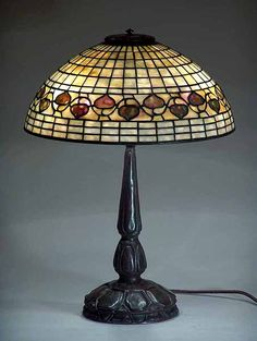 Tiffany Lamps | ... Acorn leaded Glass Tiffany lamp shade on Mock Turtle bronze lamp base