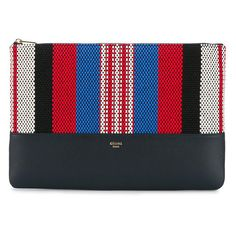 Céline Céline Woven Clutch Bag ($377) ❤ liked on Polyvore featuring bags, handbags, clutches, blue, blue purse, leather clutches, evening handbags, celine purse and blue evening purse