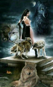 Luna and alpha suprem native american spirituality, dark art, native american pictures, native Fantasy Wolf, Dark Fantasy Art, Dark Art, American Indian Art, Native American Art, Wolves And Women, Wolf Artwork, Wolf Painting, Native American Pictures