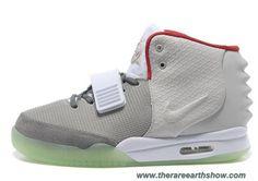 Discounts Nike Air Yeezy II Gray Red Men Shoes