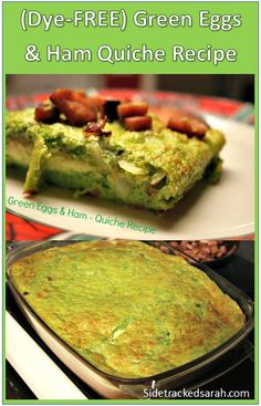 How to make green eggs and ham: a dye-free quiche recipe the family will love (and fun Dr Seuss suggestions to go along with it) Instant Pot Chicken And Rice Recipe, Chicken Rice, Pork Recipes, Cooking Recipes, Ham Quiche, How To Make Greens, Green Eggs And Ham, Quiche Recipes, Pinterest Recipes