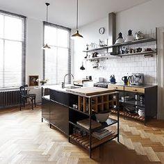 + #kitchen #wood #herringbone | Roseland Greene