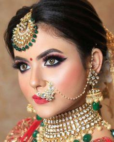 Bride Eye Makeup, Hd Bridal Makeup, Bridal Makeup Looks, Indian Bridal Makeup, Bridal Looks, Indian Eye Makeup, Bridal Smokey Eye Makeup, Indian Bride Poses, Indian Bridal Photos