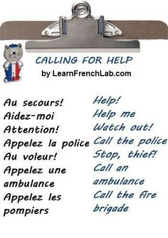 Learn French Survival Phrases with Audio before going to France. #easyfrenchlanguage