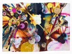 Rosemarie Fiore - lit fireworks art
