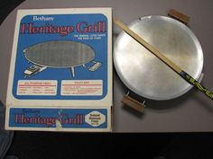 """Bethany 730 Heritage Grill Lefse Baker 16"""" Textured Aluminum Nonstick - Working, All Included. This high-quality grill has a 16"""" diameter and is great for Norwegian lefse, flatbreads, tortillas, pizza, bacon, eggs, pancakes, pizza, burgers, sandwiches, and much more! The package includes the power probe and lefse turner.    The grill has been gently used and is in great condition. It comes in its original box and is in proper working order."""