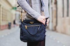 Black Prada bag Festy in style