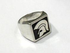 Silver seal ring. Handmade.  Anillo sello de plata. Hecho a mano. Trojan Records