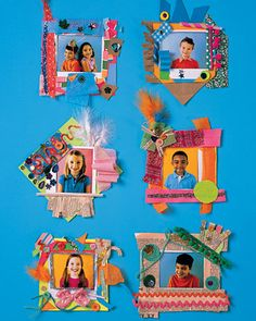 Make cute snapshots even cuter with this craft from Martha Stewart that encourages creativity as well as uses all those bits of scrap paper around your house.