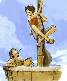 Usopp and Luffy.
