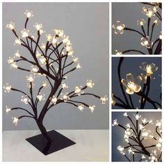 luminaria árvore flor de luz cerejeira leds branco