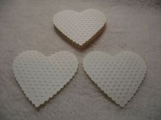 Embossed Paper Piece Set of Very by JudeAlyssaMarkus Embossed Paper, French Vanilla, Scrapbook Embellishments, Paper Hearts, Homemade Cards, Mini Albums, Garland, Card Stock, Valentines