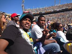 Hanging with some friends at Jags v Steelers game... @jpinkney