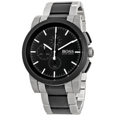 Hugo Boss 1512958 - Say Yes To Hugo Boss @ http://www.designerposhwatches.co.uk/product/hugo-boss-1512958-grey-and-black-pvd-gents-bracelet-watch