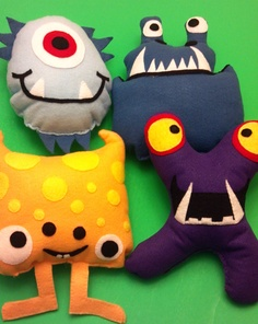 monster crafts   Maybe make a few that look like Henry for the party bags?