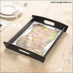 Serving Tray featuring 'Fairy Friends' artwork by Sandy Richter available at Zazzle