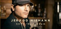 Jerrod Niemann will perform after the PRCA Xtreme Bulls Tour on Friday, September 19. Tickets go on sale July 5!