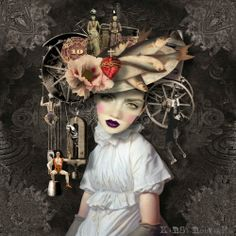 """""""Balance"""" digital collage by Kirsi Rouvinen #mixed #media"""