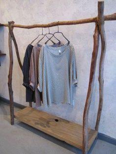 Un DIY pour faire un portant en bois flotté