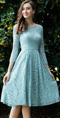 Edressit light green lace cocktail party dress around the world in 8 cocktails Trendy Dresses, Cute Dresses, Beautiful Dresses, Fashion Dresses, Formal Dresses, Dresses Uk, Fashion 2018, Dresses Online, Fashion News