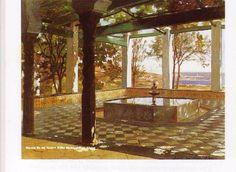 """Du livre de Marion Vidal- Bué """"Alger et ses peintres"""" quelques tableaux classés par thème. Ici, quelques toiles reproduites dans le chapitre """"Des villas blanches dans leur écrin de verdure"""" Eugène Deshayes Jardin d'Alger David E. de Noter Villa Mahieddine,..."""
