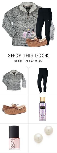"""""""2 MORE DAYS UNTIL CHRISTMAS!! (still 70 degrees)"""" by preppypuffpuff on Polyvore featuring NIKE, UGG Australia, Victoria's Secret, NARS Cosmetics, Kenneth Jay Lane and iDeal of Sweden"""