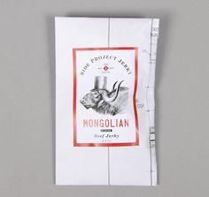 """SIDE PROJECT JERKY: """"Mongolian"""" Flavor Beef Jerky, 2oz Package"""