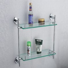 Repisas sencillas y elegantes para baño. Con cristal 10 mm ...