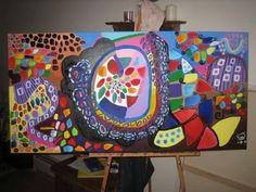 "PATH OF LIFE I 48"" x 24"" acrylic on canvas"