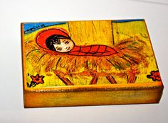 Baby Jesus in a Manger II  Giclee print mounted on by FlorLarios