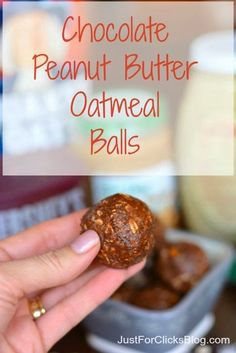 {Clean Eating} Chocolate Peanut Butter Oatmeal Balls