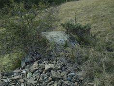 Piedra Subidera. Piedra-tapa a modo de cista que se sitúa sobre una chimenea energética. Ubicada en un campo de Gavín.