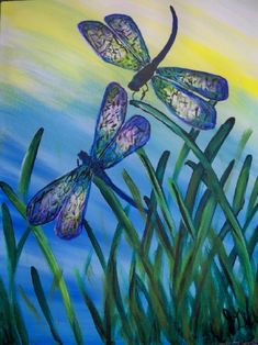 Mum loves Dragonflies, as a result everyone buys her dragonfly themed things! She has necklaces, trinket boxes, scarves - you name it! Dragonfly Painting, Dragonfly Art, Dragonfly Tattoo, Dragonfly Drawing, Compass Tattoo, Tattoo Buddhist, Crayons Pastel, Dragonfly Jewelry, Paint And Sip