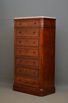 Tall And Slim Victorian Chest Of Drawers - Antiques Atlas