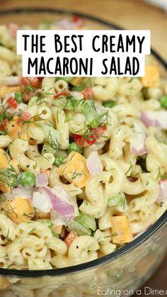 Macaroni Salad Ingredients, Mayo Pasta Salad Recipes, Easy Pasta Salad Recipe, Greek Salad Recipes, Salad Dressing Recipes, Southern Macaroni Salad, Creamy Macaroni Salad, Best Macaroni Salad, Macaroni Pasta