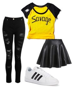 """You could wear either one🤗"" by gabs129-1 ❤ liked on Polyvore featuring Current Mood and adidas"