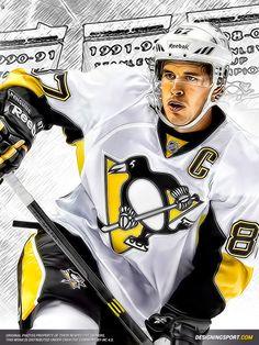 Drawing of Sid Pens Hockey, Hockey Teams, Ice Hockey, Sports Teams, Pittsburgh Sports, Pittsburgh Penguins Hockey, 2010 Winter Olympics, Hockey World Cup, Lets Go Pens