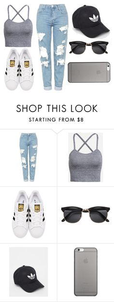 """""""Untitled #357"""" by fashion-xoxo-lari on Polyvore featuring Topshop, adidas Originals, adidas and Native Union"""