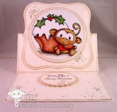 Love the easel shape and design of this card