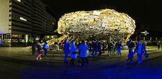 Raumlaborberlin recycles a vortex of waste material in the Hague via @designboom #WoodLovers #recycledwood #raumlaborberlin